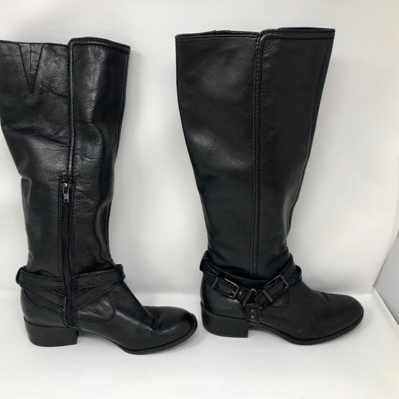 203ed71dd2c Gianni Bini Black Leather Riding Boots Sz 7.5
